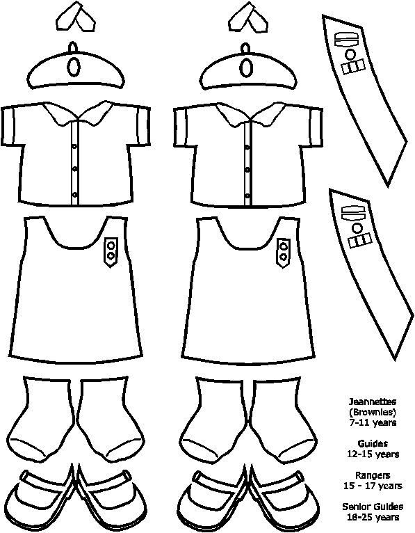 Haitian Jeanette and Guide Uniforms