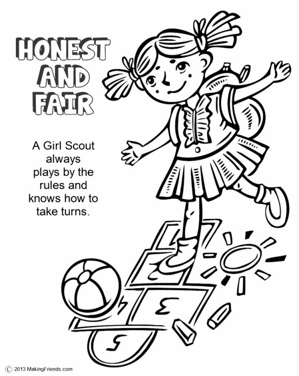 girl scout daisy coloring pages # 9