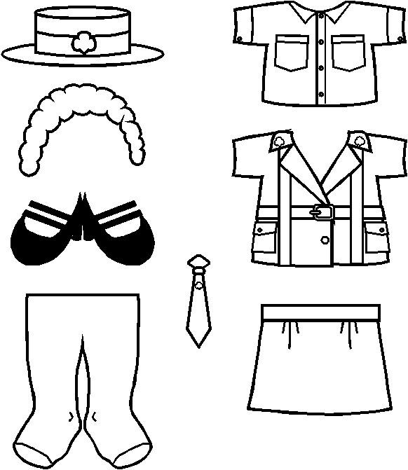 Juliette Paper Doll costume outline