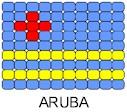 Aruba Flag Pin Pattern