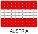 Austria Flag Pin Pattern