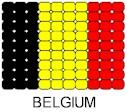 Belgium Flag Pin Pattern