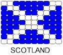 Scotland Flag Pin Pattern