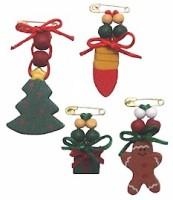 Christmas Beaded Pin