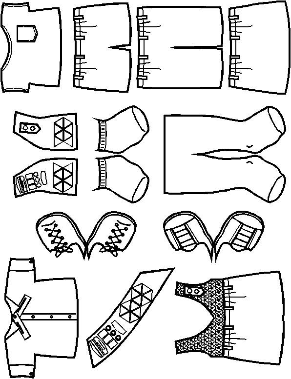 Paper Doll Friends| Brown Uniform Outline