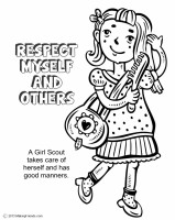 Girl Scout Law, Respect Myself and Others Coloring Page