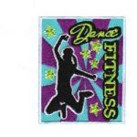 Dance Fitness Girl Scout Fun Patch