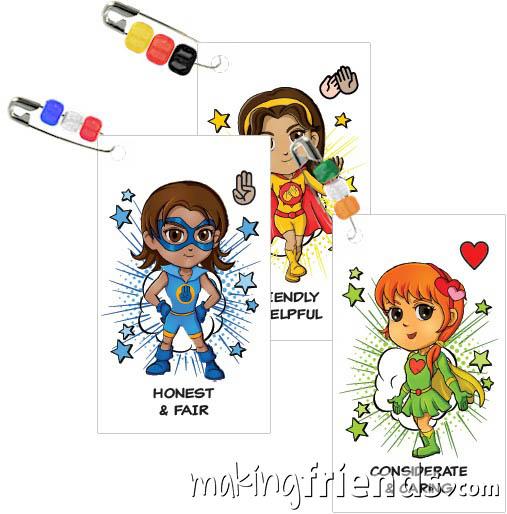 Superhero Girl Scout Friendship SWAP Kit via @gsleader411