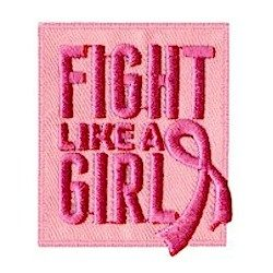 Fight Like a Girl  Breast Cancer Awareness Patch  MakingFriendsMakingFriends