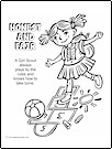 Girl Scout Law, Honest and Fair Coloring Page
