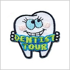 """The """"Dentist Tour"""" Patch from MakingFriends®.com is a way to remind the wearer your trip to the dentist does not have to be scary. Help make it a fun, memorable experience with a colorful patch as the reward. via @gsleader411"""