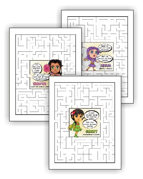 Superhero Maze Pages
