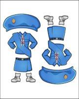 Superhero Charity's Girl Guide Uniform for Japan