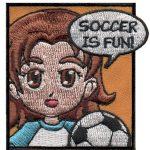 Soccer Girl Scout Fun Patch