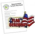 Girl Scout Flag Ceremony Fun Patch