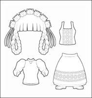 World Thinking Day Traditional Switzerland Clothing Outline