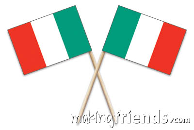 """Italy Toothpick Flags. 100 to the box.2.5"""".Designs are on both sides of the flag. Perfect for your World Thinking Day* event this year! Can be used for crafts for swapping, give-a-ways, decorations and more! You'll find more fun ideas on our page Italy 