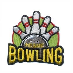 He &* Me Bowling Fun Patch