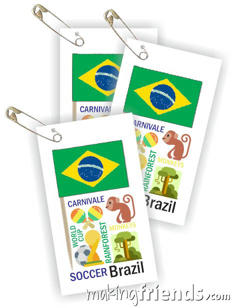 Brazil Toothpick Flag Friendship Swap Kit. It doesn't get any better than this! Economical and easy crafts if you're doing Brazil for your World Thinking Day* or International event. Kit makes 100 and is available at MakingFriends®.com. Find information about Brazil as well as patches, crafts, passports and more for your international event on our page Brazil| Ideas for Thinking Day*. #thinkingday #swaps #scouts #makingfriends via @gsleader411