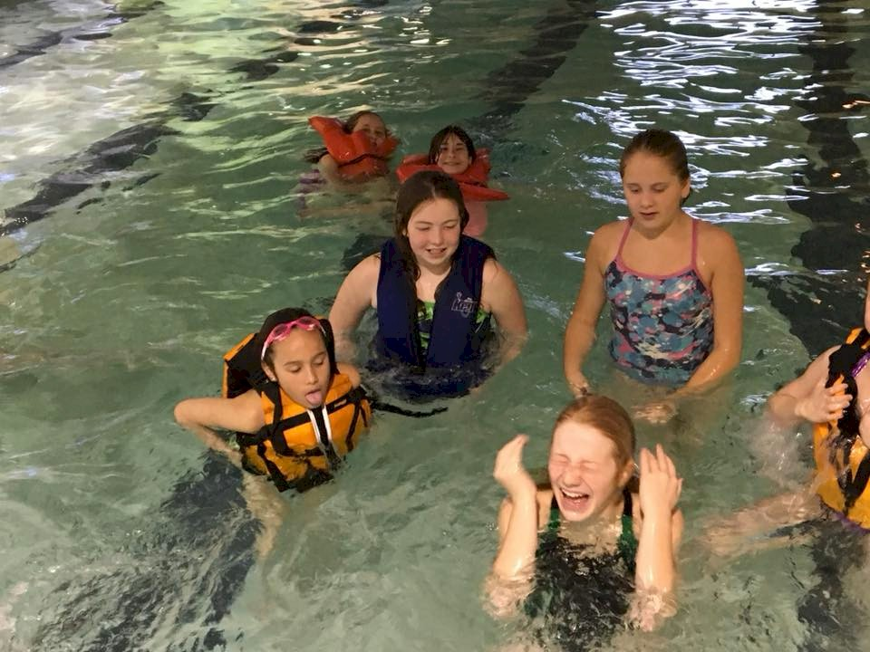 Girl Scout Pool Party