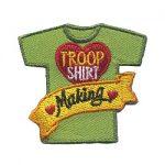 Girl Scout Troop Shirt Making Fun Patch