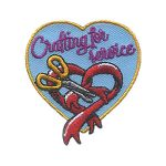 Girl Scout Crafting for Service Patch