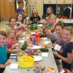 Junior Girl Scout Crafting for Seniors.