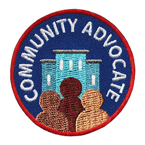 Community Advocate Service Patch from Youth Squad