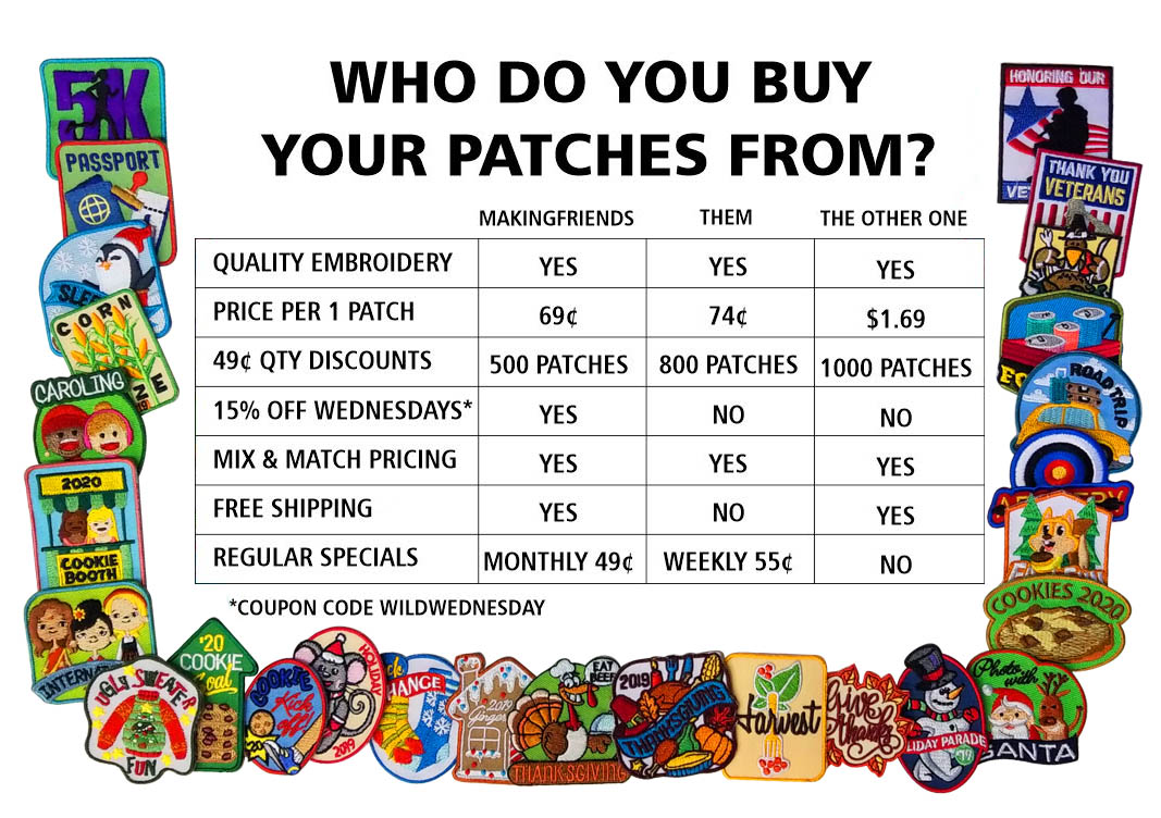 Making Friends Patch Value Chart
