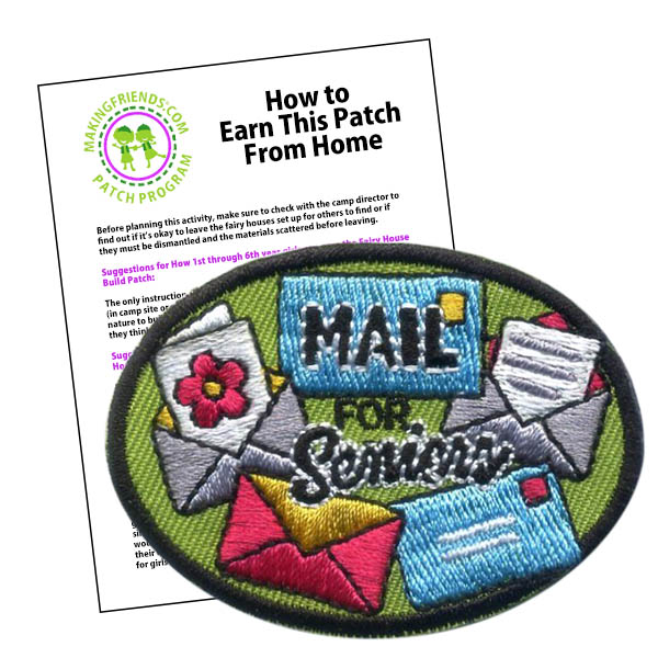 Girl Scout Mail for Seniors Fun Patch