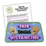 Girl Scout Social Distancing 2020 Fun Patch
