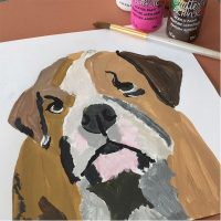 paint night, painting, dogs, dog painting, kids painting