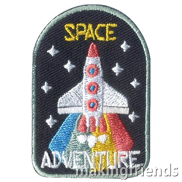 Space Adventure Patch from MakingFriends®.com. Take a look at the fun ideas and activities for your scouts to earn the Space Adventure Patch from MakingFriends®.com. #makingfriends #mf #scoutpatches #girlscouts #scouts #juliettescouts via @gsleader411