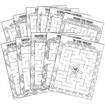 Girl Scout Daisy Petal Coloring Mazes