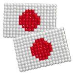 Diamond Painting Japan flag pin Girl Scout SWAP