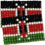 Diamond Painting Kenya flag pin Girl Scout SWAP