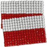 Diamond Painting Poland flag pin Girl Scout SWAP