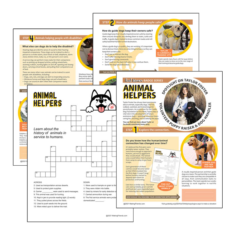 Girl Scout Animal Helpers Badge Download for Cadettes