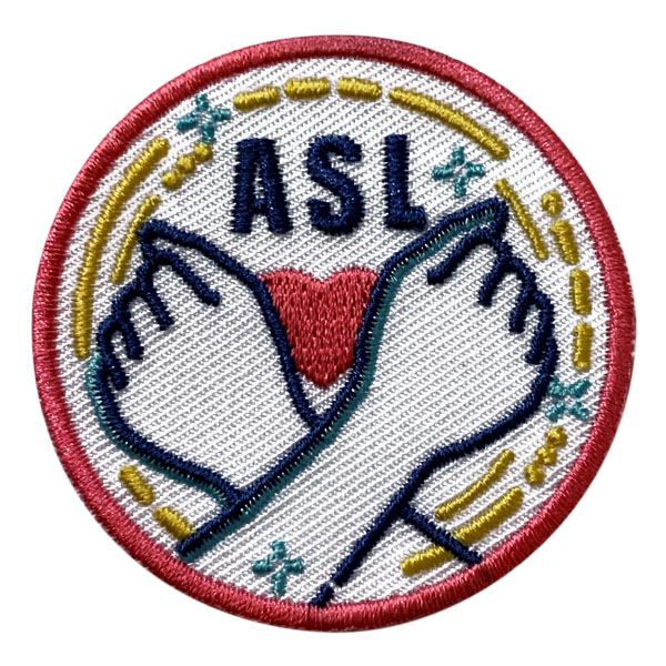 Girl Scout ASL American Sign Language Patch