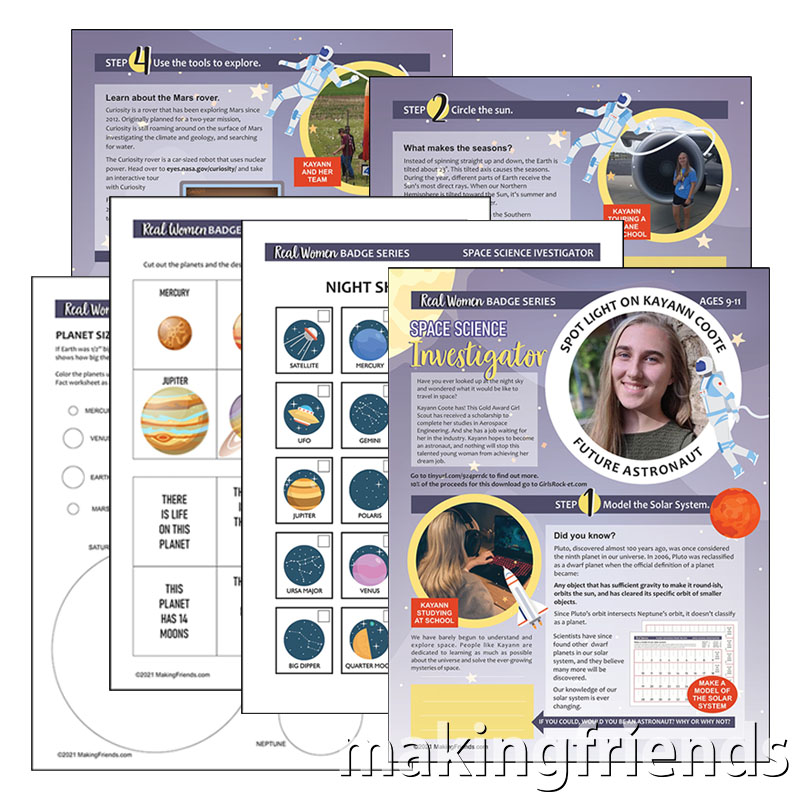 Girl Scout Space Science Investigator Real Women Download via @gsleader411