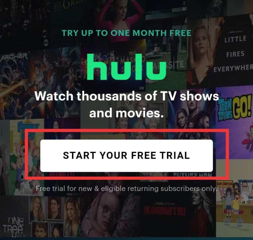 free hulu trials unlimited