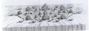 A 'parterre' of varied geometrical shapes, from J.Gilliers, Le Cannameliste Francais, Nancy , 1751 (By courtesy of the Brotherton Library, University of Leeds).