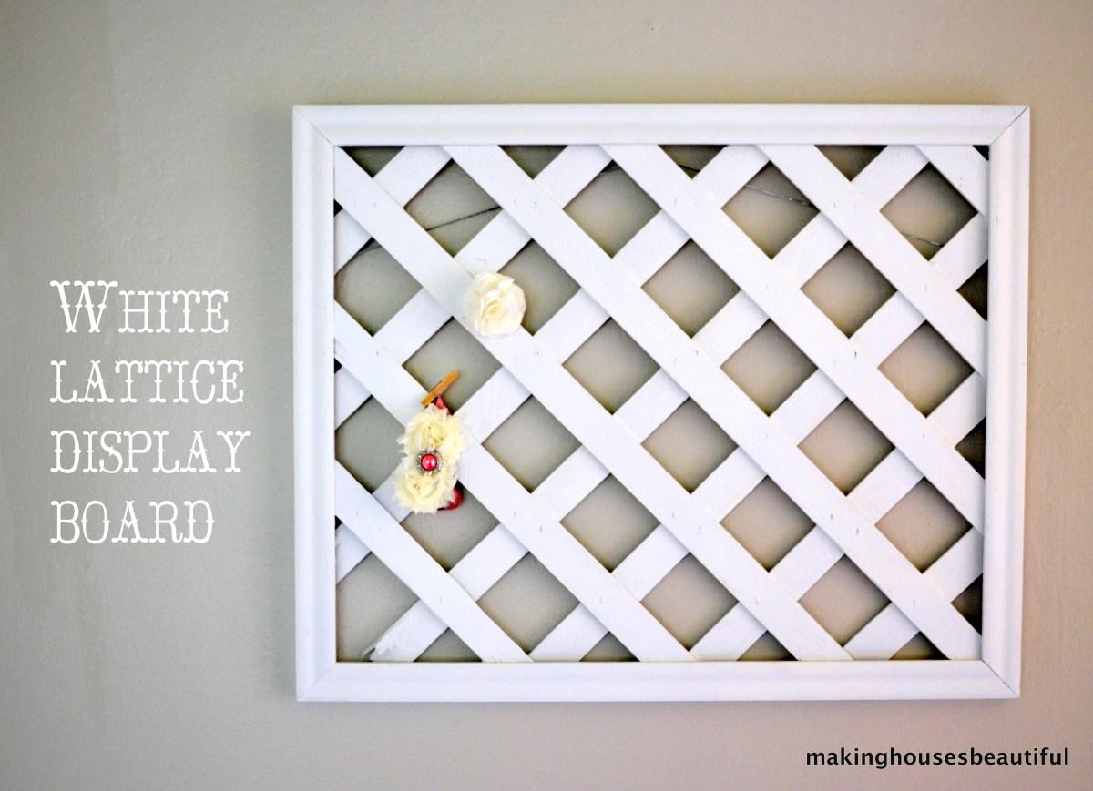 White Lattice Display Board Making Houses Beautiful