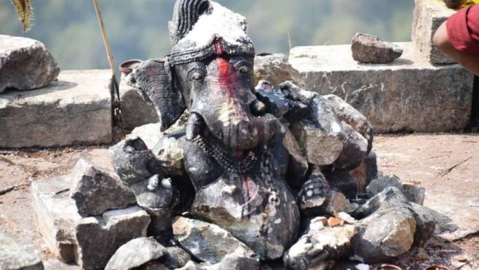 dholak ganesh statue destroyed by naxal making india