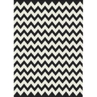 Black and White ZigZag Rug - Making it Lovely