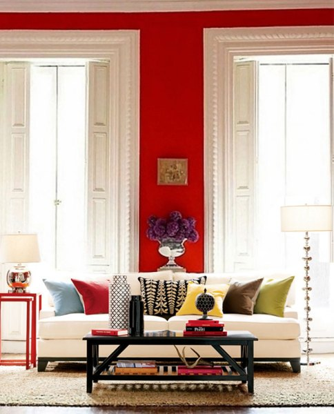 red living room 20 Inspiring Red Rooms - Making it Lovely
