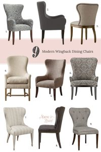 9 Modern Wingback Dining Chairs - Making it Lovely