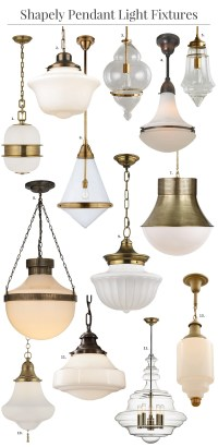 Shapely Glass Pendant Light Fixtures
