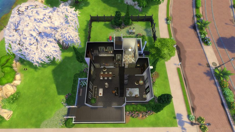 Main Level Floor Plan — Sims 4 Pink Victorian House, Making it Lovely