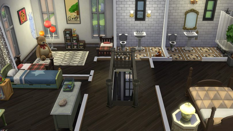 2nd Floor Overview — Sims 4 Pink Victorian House, Making it Lovely